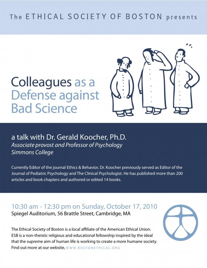 "ESB Presents ""Colleagues as a Defense against Bad Science"